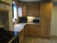 Kitchen cabinets solid limed oak doors