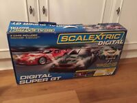 Scalextric Digital Super GT with Track Extension Pack A; Aston Martin, Dodge Viper, Porsche 911