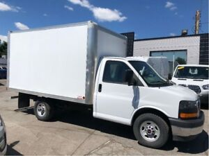 2017 GMC Savana 3500 SRW 12ft cube van.