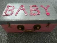 Handmade shabby chic baby keepsake box