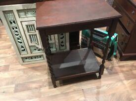 Barley twist mahogany hall table