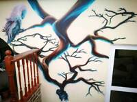 Airbrush artist for mural ,graffiti and workshops