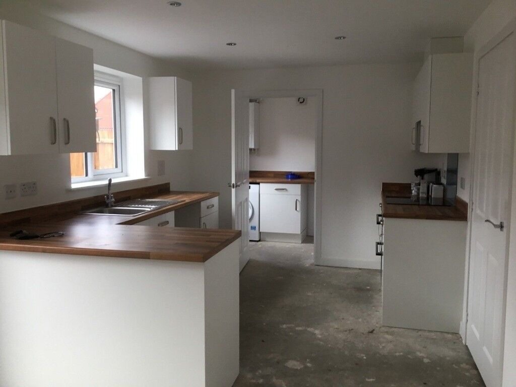 New kitchen units worktops and oven