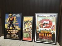 Framed prints of classic film posters