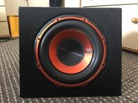 Subwoofer 750watt edge speaker car amp