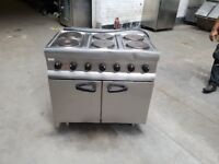 Lincat 6 hobs commercial electric cooker 3 phase electric oven for catering