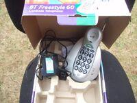 Grey BT Freestyle 60 Cordless Telephone