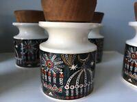 Vintage Port Meirion Spice Jars