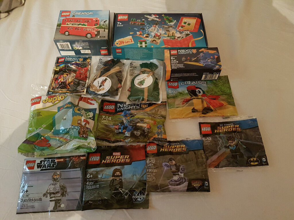 BRAND NEW Lego Polybags BUNDLE!! Star Wars, SuperHeroes, Creator, Nexo Knights, Duplo, Christmas!!