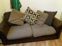 3 and 2 Brown sofas