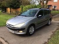 2003 Peugeot 206 xt estate hdi MOT Jan 18 highly maintained