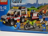 LEGO City 4433 4x4 Jeep & Motorbike / Dirt Bike Transporter - Complete with Instructions & Box
