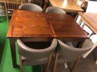 Dark table £220 chairs £60 each