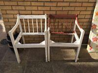 Garden bench & 2x chairs