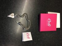 Orli Satin Heart Pendant. RRP£58 Brand new in box Smoke free home Unwanted gift Local collection.