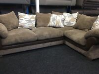 New/Ex Display Dfs Cord Half Leather Group Sofa + Sofa Bed SOFA BED SOFA BED SOFA BED