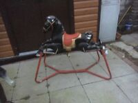 Vintage Collectable Original Metal Spring MOBO Rocking Horse 1960s Childs Toy