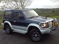 MITSUBISHI PAJERO 2.8TD SWB 3 DOORS 4X4 AUTOMATIC BLUE ** LOW MILEAGE!!** LONG MOT!! **