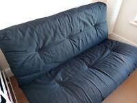 Black futon sofa bed double