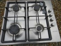 STAINLESS STEEL 4 BURNER GAS HOB BY SEIMENS