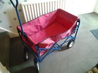 Festival/garden trolley, collapsible in good condition.