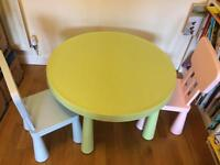 IKEA Mammut children's table and chairs