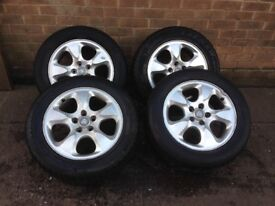 JAGUAR S-TYPE ALLOY WHEEL SET 225/55/16