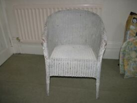 Lloyd Loom Nursing Type Whicker Chair Weymouth