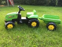 Rolly children's ride on tractor & trailer