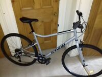 2 month old Riverside 120 hybrid bicycle, large frame, with stand in great working condition