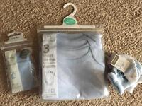 Newborn baby boys vests, scratch mits & socks
