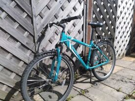 Apollo Entice Mountain Bike - with alloy pedals, mudguards and pannier rack