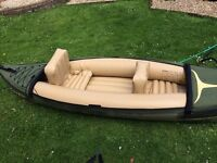 Sevylor inflatable kayak. Great condition, removable seats, seat covers and oars included