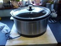 Tesco SCSS13 stainless steel slow cooker