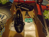 Pair of Puma Football Boots size 1 Black & Gold