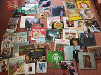 Colecetion of vinyle LPs and singles