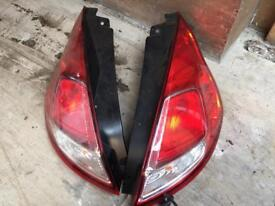 2015 Ford Fiesta 3 door rear lights