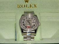 Rolex day date diamond iced out face