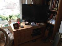 Sturdy Pine TV stand
