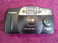 Canon Vintage Sure Shot AF-7 35mm Compact Film Camera With Soft Leather Case & Wrist Strap-VGC