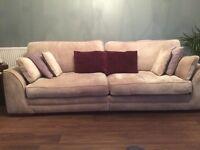 Four seater sofa and snuggle/love seat