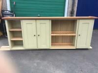 Fired Earth wall unit with dish rack