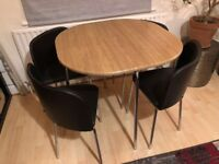 Hygena Space Saver Table & 4 Chairs