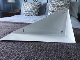 Urban Outfitters White Metal A-Symmetrical Wall Shelf