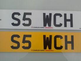 Cherished Registration Number S5 WCH