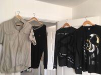 Large fit men's clothing bundle.