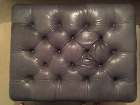 Leather Arm Chairs/Footstool