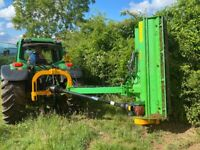 NEW 220 CM - VERGE FLAIL MOWER, HEAVY DUTY FOR TRACTOR, CHOICE, *** VIDEO ***