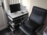 COMPUTER ,PRINTER-SCANNER,DESK,CHAIR WINDOWS 10 HP