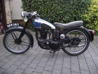 BSA C11, 1950 250cc. New Electrics/recon.engine/new tyres. New V5. Tax/MoT exempt